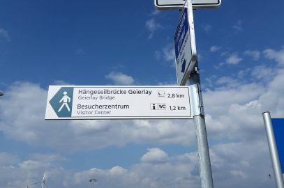 Besucherlenkung an Deutschlands längster Hängeseilbrücke